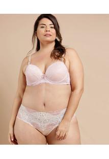 Calcinha Feminina Alta Renda Plus Size Demillus