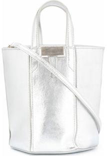 Off-White Bolsa Bucket Allen Com Efeito Metalizado - Metálico