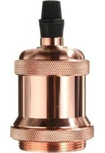 Luminária Soquete E27 250V Vintage Retrô Cobre Rose Gold Decoração Casa - Kanui