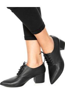 Ankle Boot Couro Jorge Bischoff Bico Fino Preto