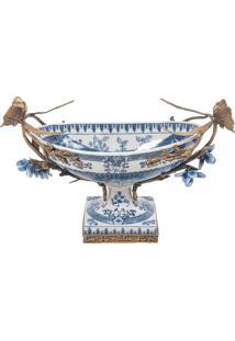 Centro De Mesa Decorativo De Porcelana Magrebe