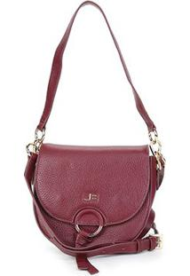 Bolsa Couro Jorge Bischoff Mini Bag Feminina - Feminino-Vinho