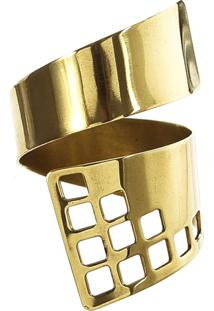 Anel Rabo De Gato Bronze Dourado