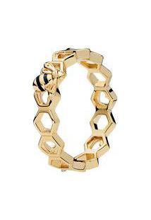 Anel Abelha- Dourado- Tamanho 50 = 10- Pandorapandora