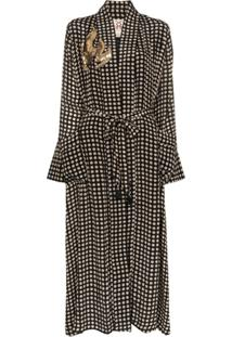 Figue Olatz Polka-Dot Robe - Preto