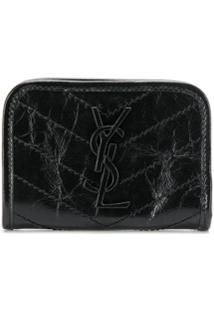 Saint Laurent Carteira Monogramada Mini - Preto