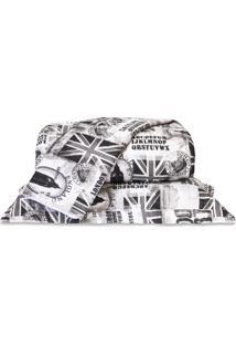 Cobre Leito Standard London Preto Queen 160 Fios 03 Peã§As Dourados Enxovais - Preto - Dafiti