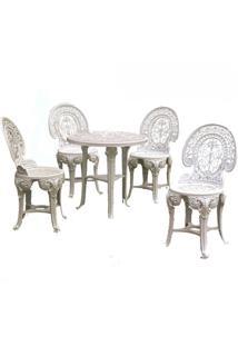 Conjunto Mesa E 4 Cadeiras Colonial Plástico Antares 3 Jogos