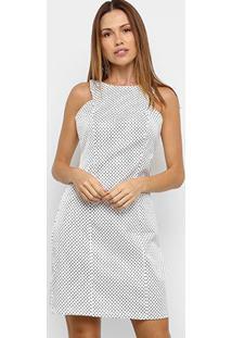Vestido Curto Mercatto Poá - Feminino-Branco