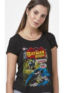 Camiseta Batman Capa Imortalidade Feminina - Feminino-Preto