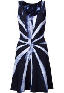 Proenza Schouler Vestido Tie Dye De Tricô - Azul