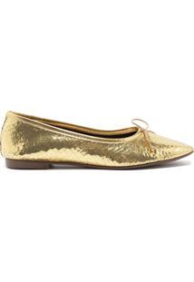 Sapatilha Ballerina Metalic Gold   Schutz