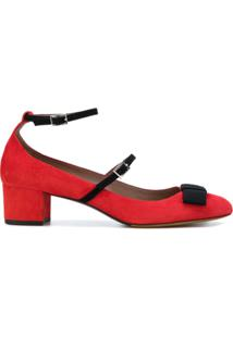 Tabitha Simmons Sapato De Couro E Camurça - Vermelho