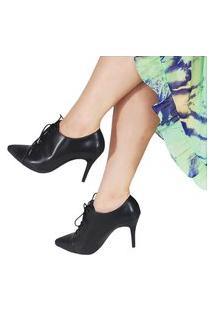 Bota Ankle Boot Feminina Napa Vegetal Preto