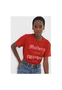 Camiseta Colcci Mulheres Vermelha