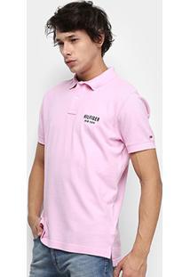 Camisa Polo Tommy Hilfiger Essential Regular Masculina - Masculino-Rosa