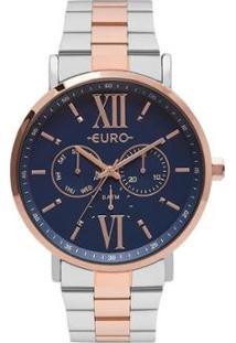 Relógio Euro Multi Glow Bicolor Feminino - Feminino-Rose Gold