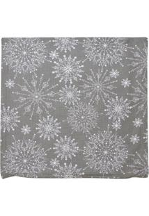 Capa Para Almofada Flocos De Neve- Cinza & Branca- 4Mabruk