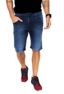 Bermuda Jeans Blunt Skinny Twill Azul