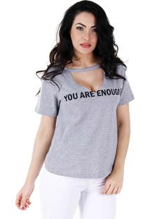 Camiseta Feminina Lara - Cinza