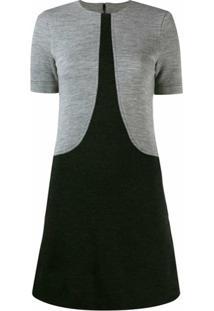 Givenchy Vestido Reto Bicolor - Preto
