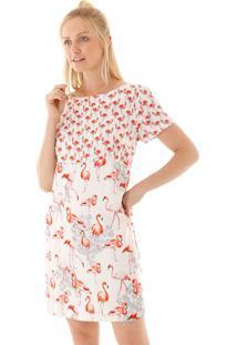 Vestido Tubinho Flamingos