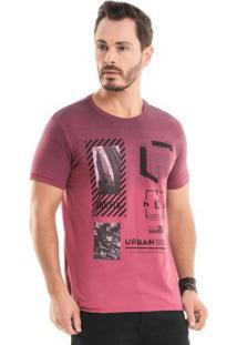 Camiseta Com Estampa Foil Vermelho Bgo