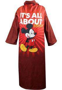 Cobertor Com Manga Mickey Mouse® - Vermelho Escuro & Verzona Criativa