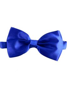 Gravata Borboleta Pazan Azul Caneta