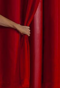 Cortina Blackout Pvc Com Tecido Voil 2,80 X 1,60 Vermelho - Multicolorido - Dafiti