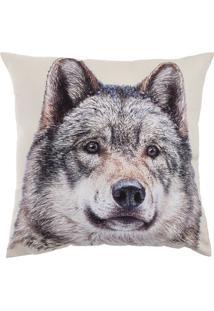 Capa De Almofada Stm Home Canadian Wolf 45X45Cm Bege