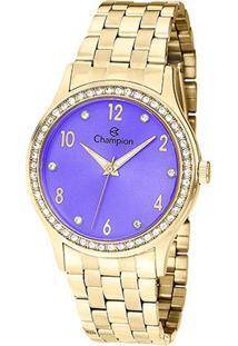 Relógio Champion Analógico Cn28982D Feminino - Feminino-Dourado