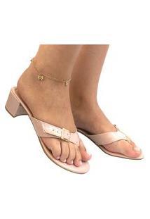 Chinelo Salto Saltinho Feminino Sandália Dedo Anabela Moda