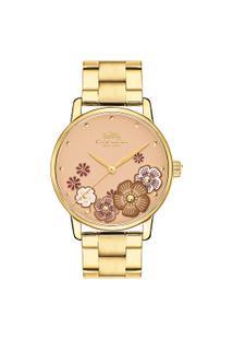 Relógio Coach Feminino Aço Dourado - 14503006