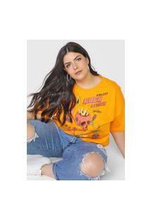 Camiseta Colcci Rock Attack Laranja