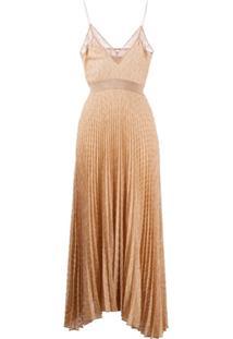 Missoni Vestido Com Pregas E Brilho - Dourado