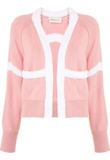 Portspure Knitted Appliqué Cardigan - Rosa