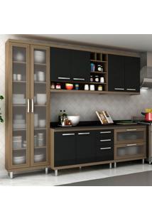 Cozinha Completa New Vitoria 15 Avelã Tx/Onix - Hecol