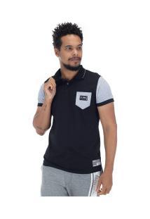 Camisa Polo Fatal Pocket 18068 - Masculina - Preto