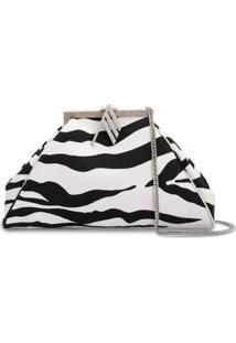 The Attico Clutch Com Estampa De Zebra - Branco