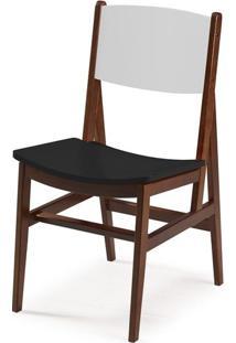 Cadeira Dumon Cor Cacau / Branco Com Preto - 30797