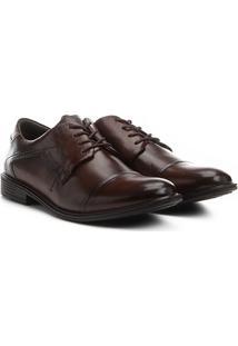 Sapato Social Couro Ferracini Bolonha - Masculino-Marrom