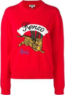 Kenzo Suéter 'Tiger' - Vermelho
