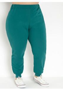 Calça Verde Escura Jogger Plus Size