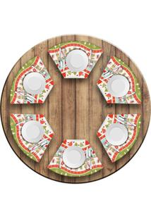 Jogo Americano Love Decor Para Mesa Redonda Wevans Happy Christmas Kit Com 6 Pçs