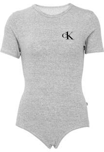 Body Calvin Klein Underwear Logo Cinza