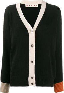 Marni Cardigan Color Block - Preto