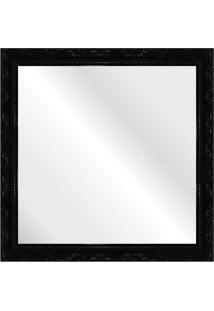 Espelho Brilho Rococo Preto 36X36Cm