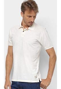 Camisa Polo Redley Básica Flame Masculina - Masculino-Off White