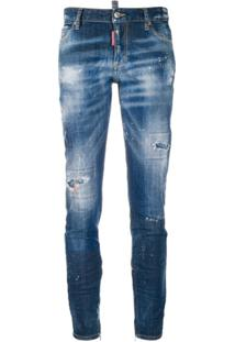 Dsquared2 Calça Jeans Cropped Cool Girl - Azul